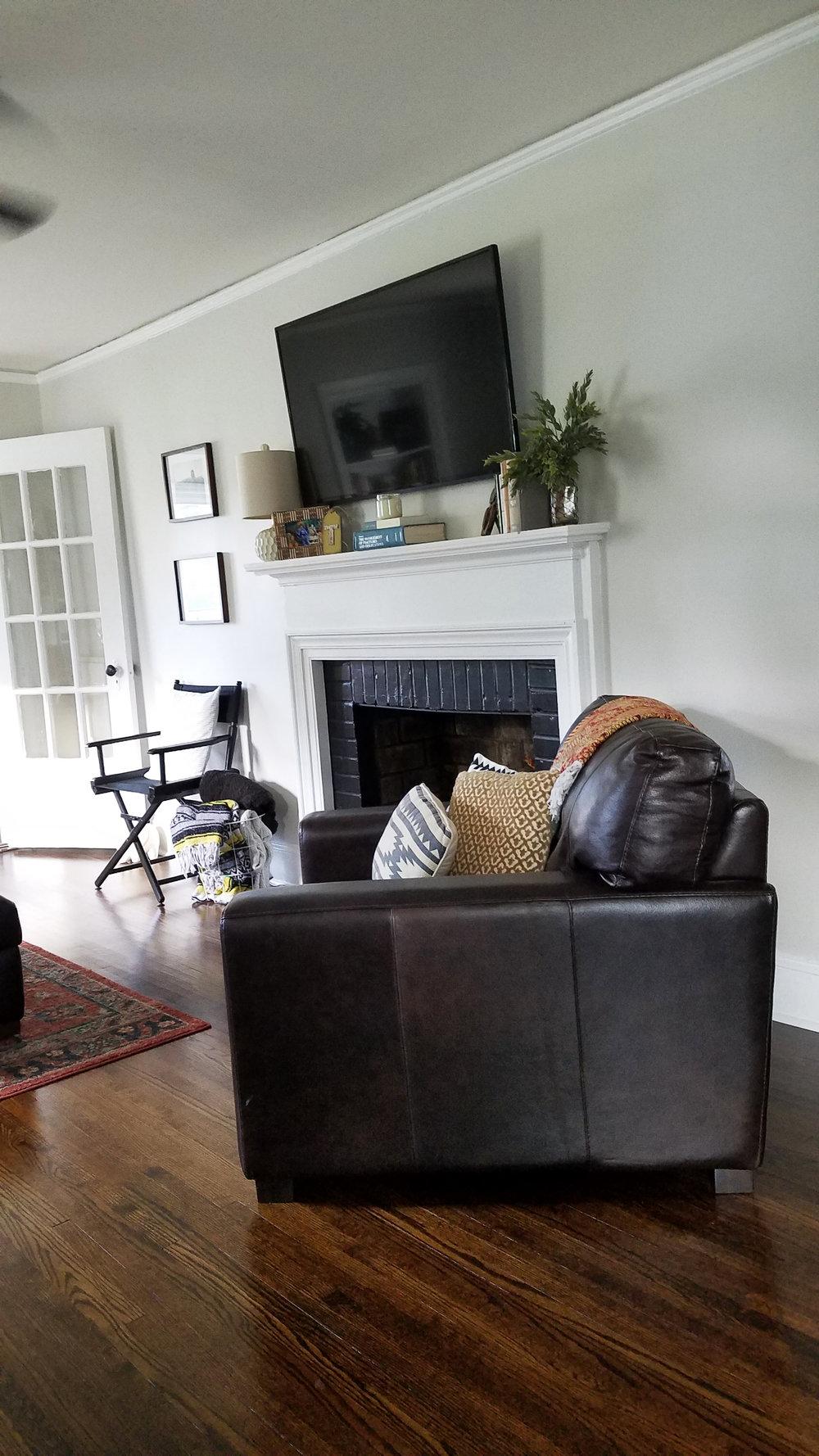 Haymount Homes Historical Fayetteville Glenville Ave Living Room Fireplace 2