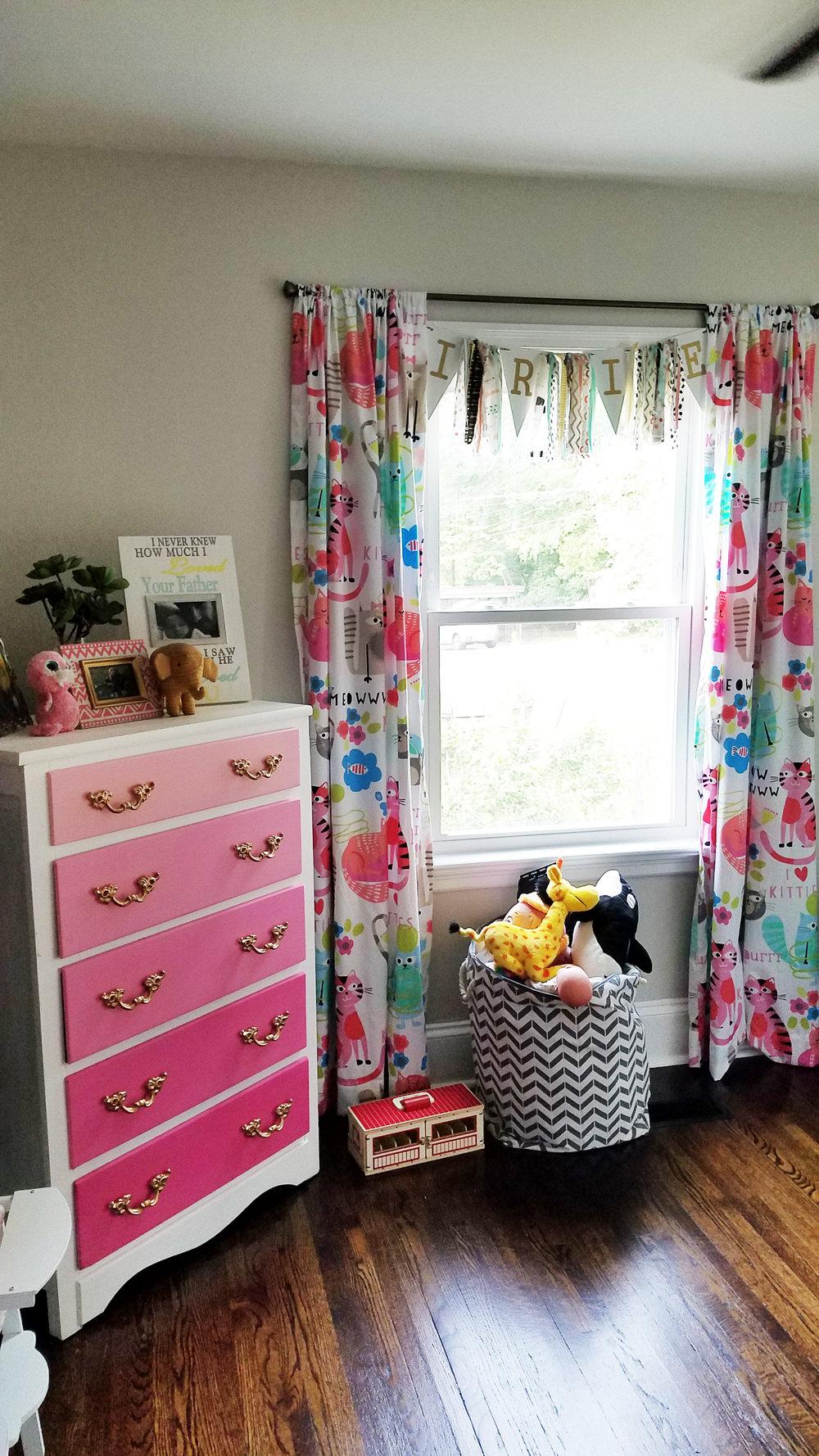 Haymount Homes Historical Fayetteville House NC Glenville Ave Bedroom boho girls