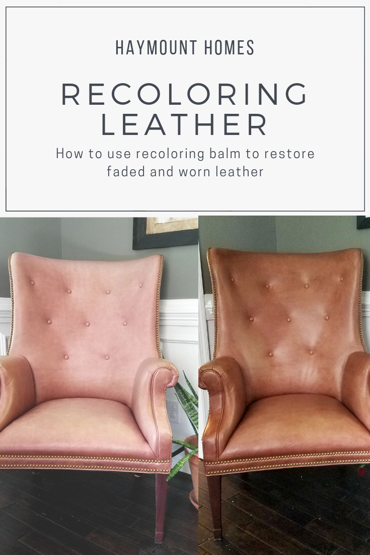 Haymount Homes LLC Restoring leather chairs