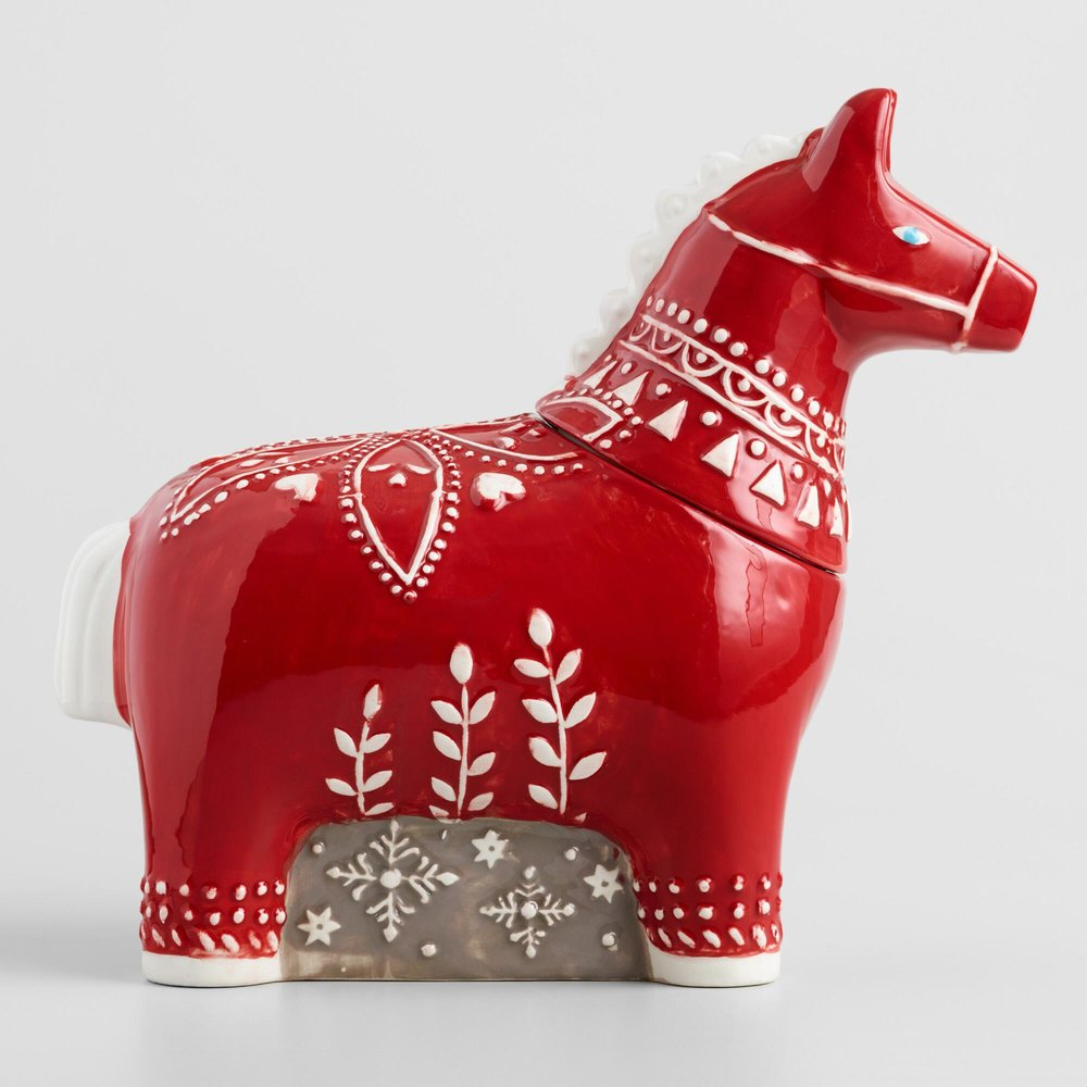 Swedish Lucky Horse Cookie Jar