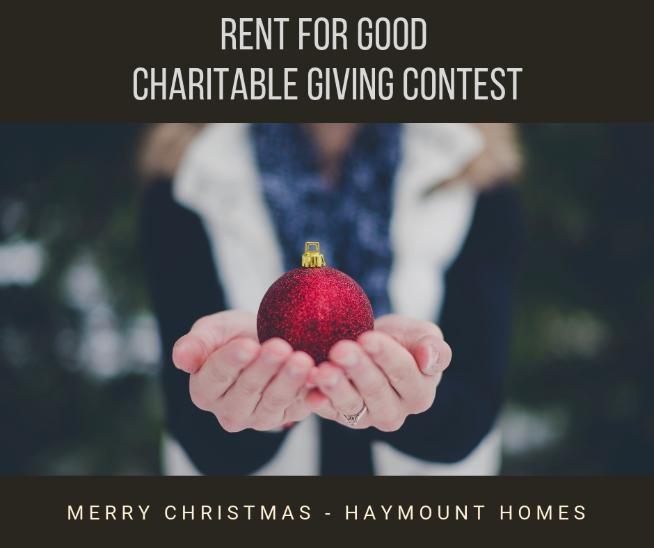 Haymount Homes Charitable Giving Contest