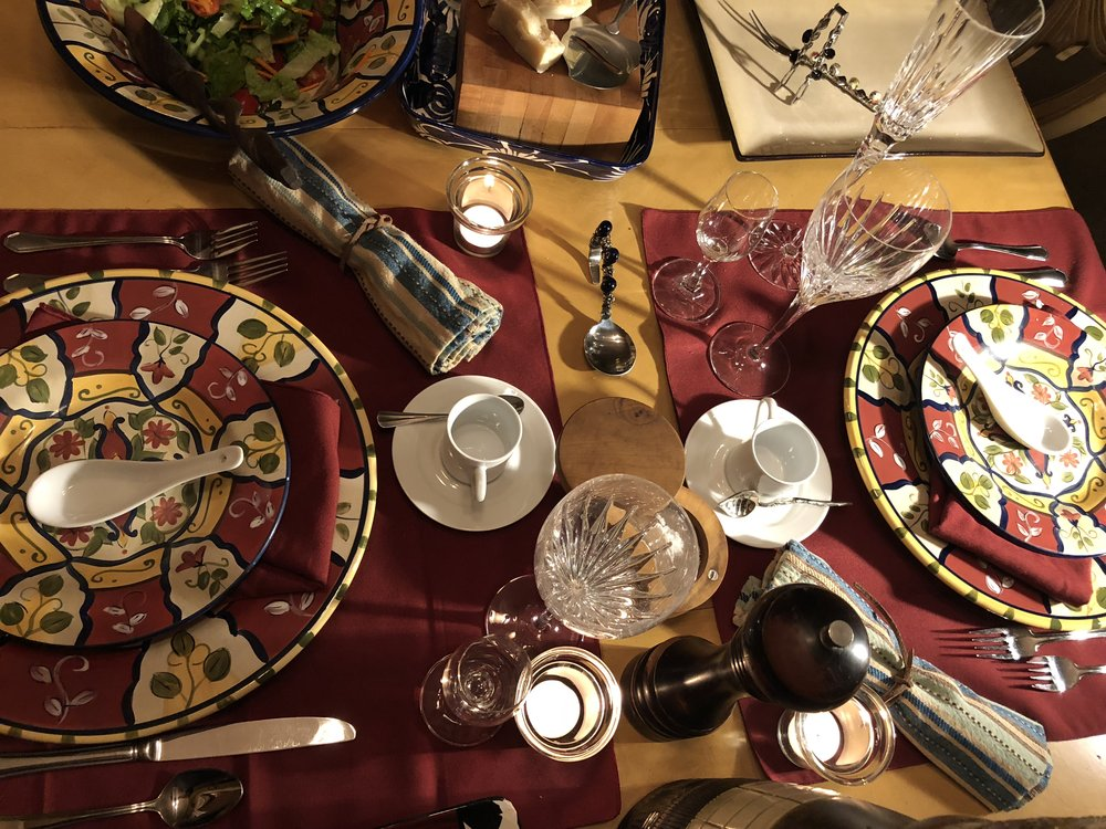 ELEMENTS OF ENTERTAINING - menu development, table setting, wine and beverage suggestions, staying organized and much more...