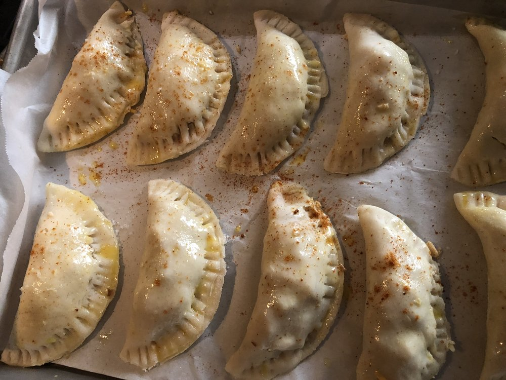 Empanadas ready for the oven