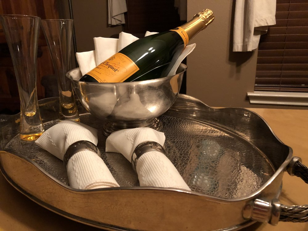Begin the evening in celebration with  Champagne for Two!