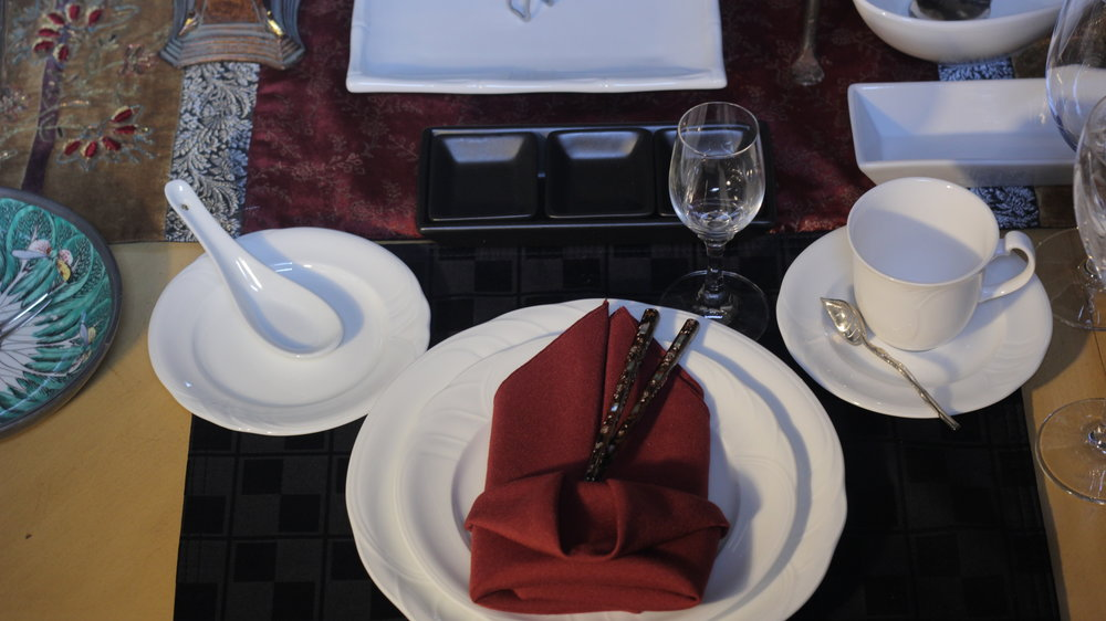 Asian Influenced Place Setting.