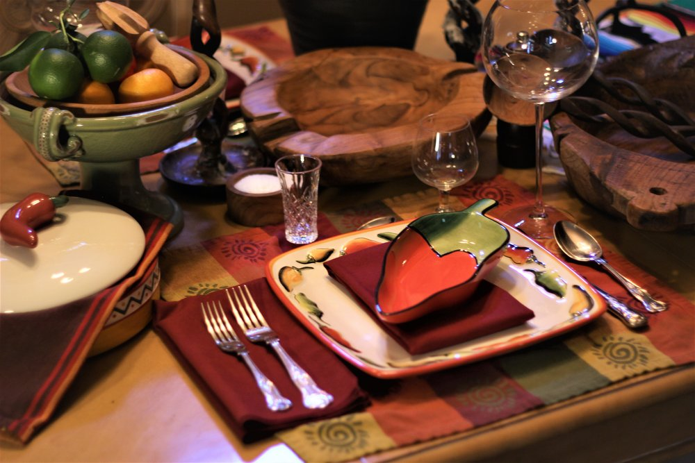 Festive Mexican Place Setting.