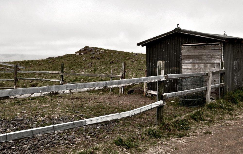 Viðey, an uninhabited island just north of Reykjavik