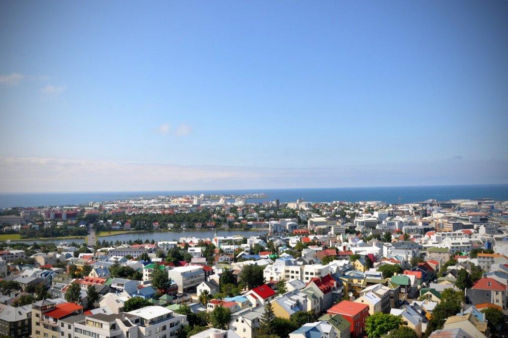 View of Reykjavik from Hallgrímskirkja Cathedral