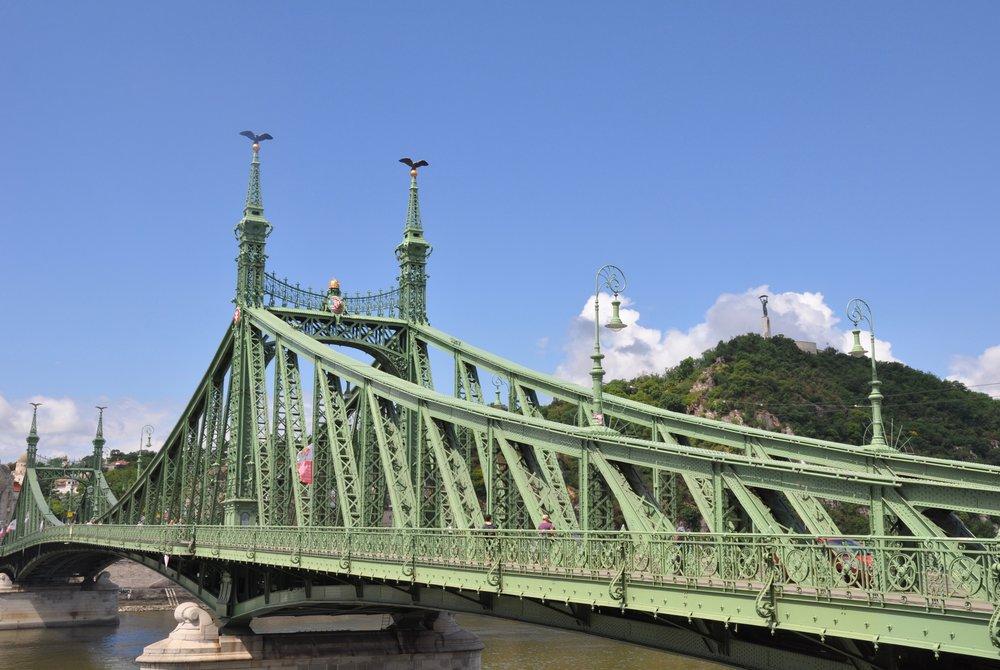 Szabadság híd, or LIberyt Bridge, completed in 1896.
