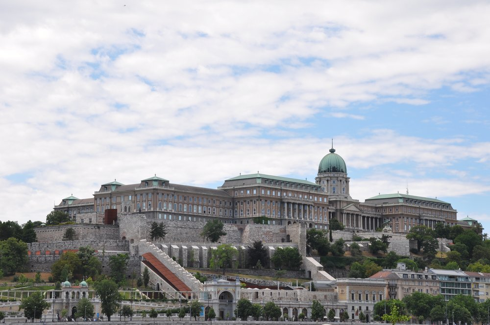 Buda Castle from the Promenade