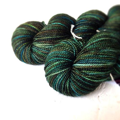 Silky High Twist Sock (Peacock colorway)