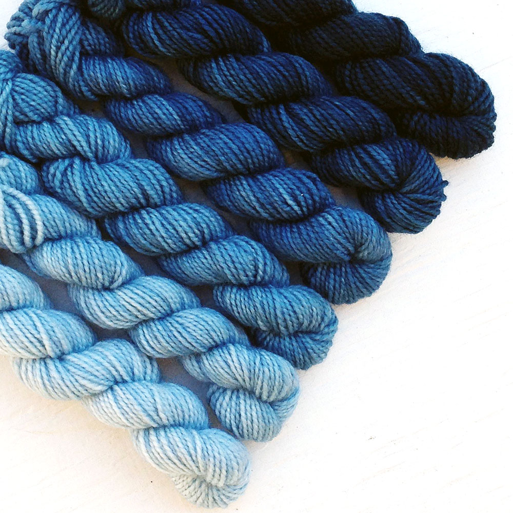 """Denim"" mini skein set"