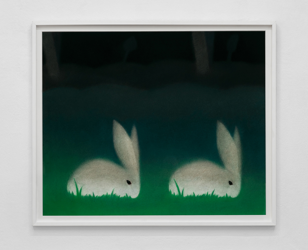 Double Bunny |  Pastel on paper | 27 x 32"