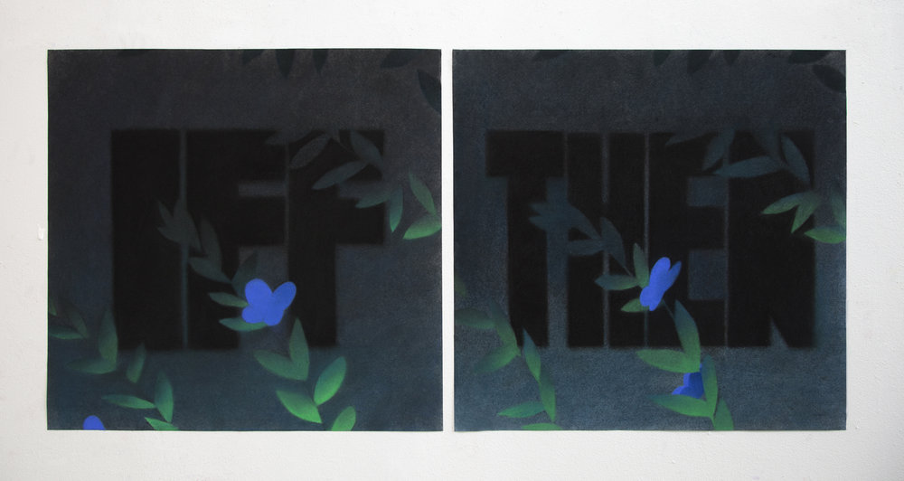 Opening Statement  | Pastel on paper | Diptych, each 20 x 21"