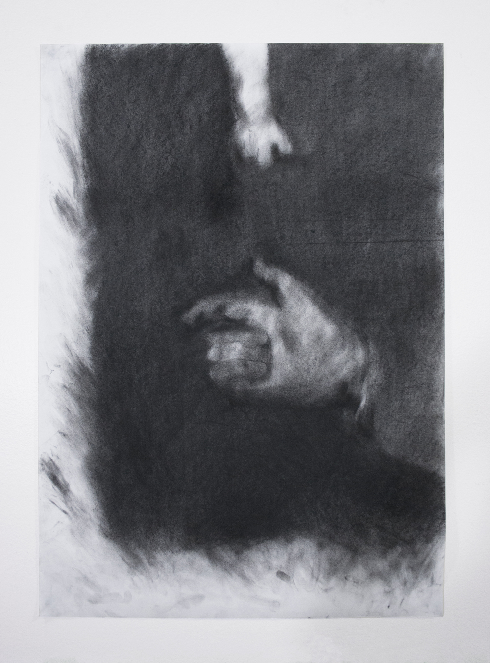 Finger Bather II  | Charcoal on paper | 18 x 24"