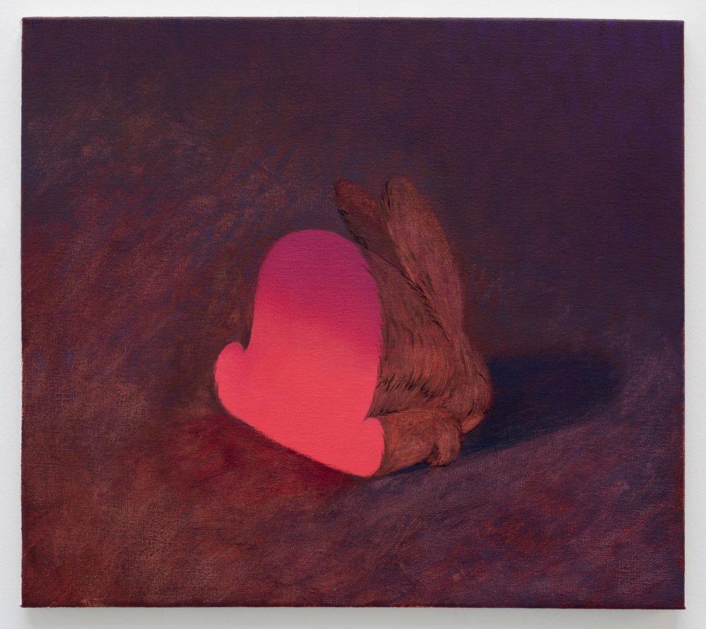 "Rabbit Part  | Oil on canvas | 16 x 18"" | 2018"