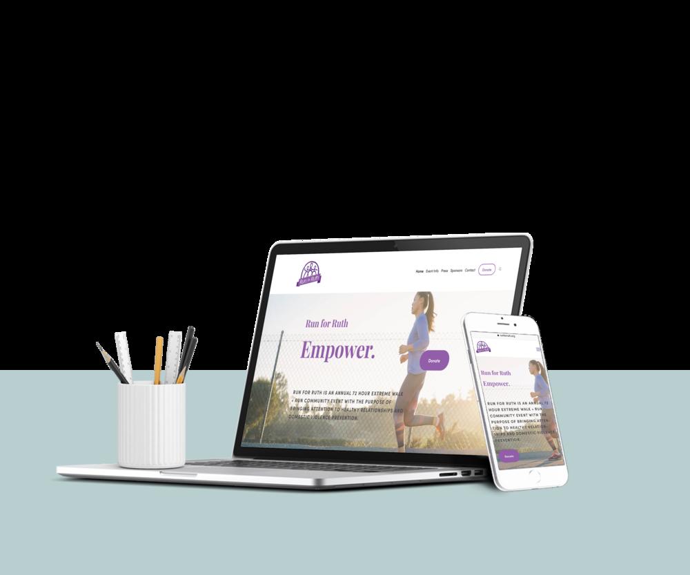Run for Ruth Fresh Website Design by Odin Marketing House