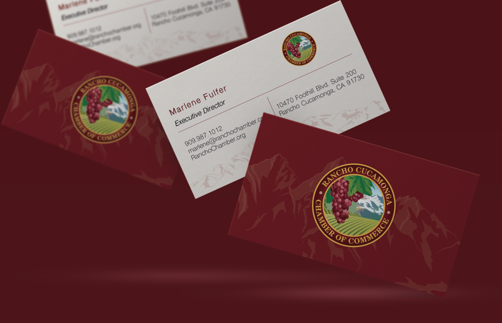 Rancho Cucamonga Chamber of Commerce Business Card Design
