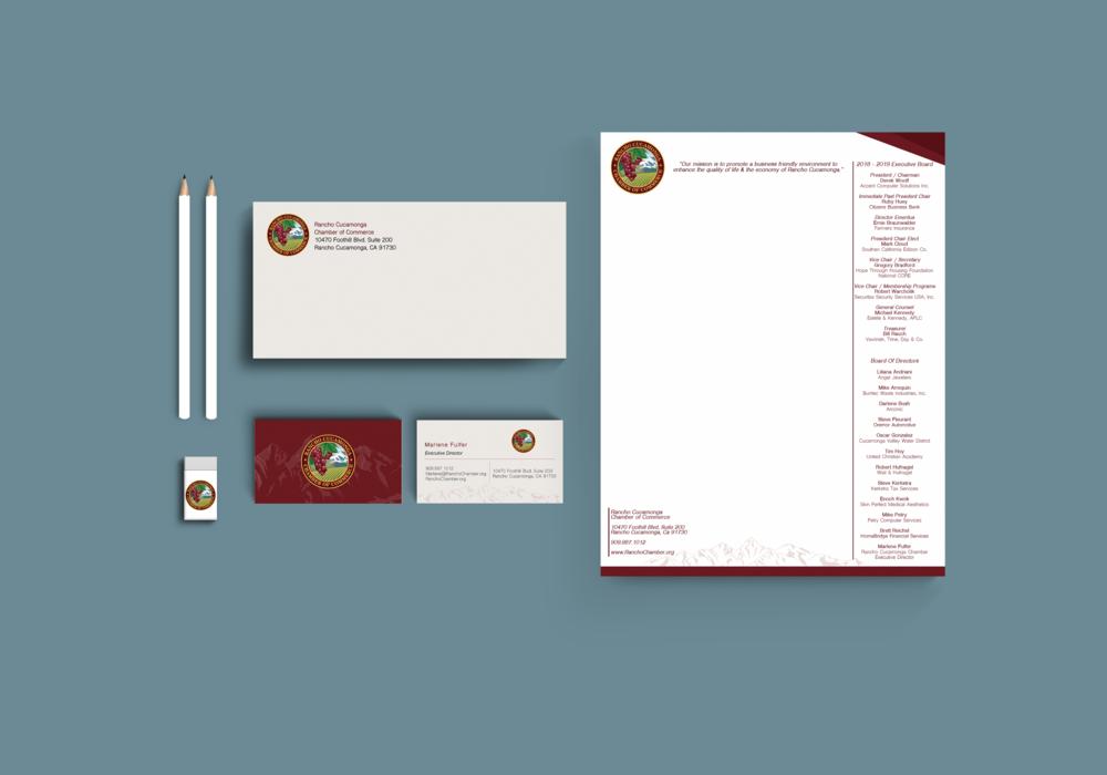 Rancho Cucamonga Chamber of Commerce Letterhead Design