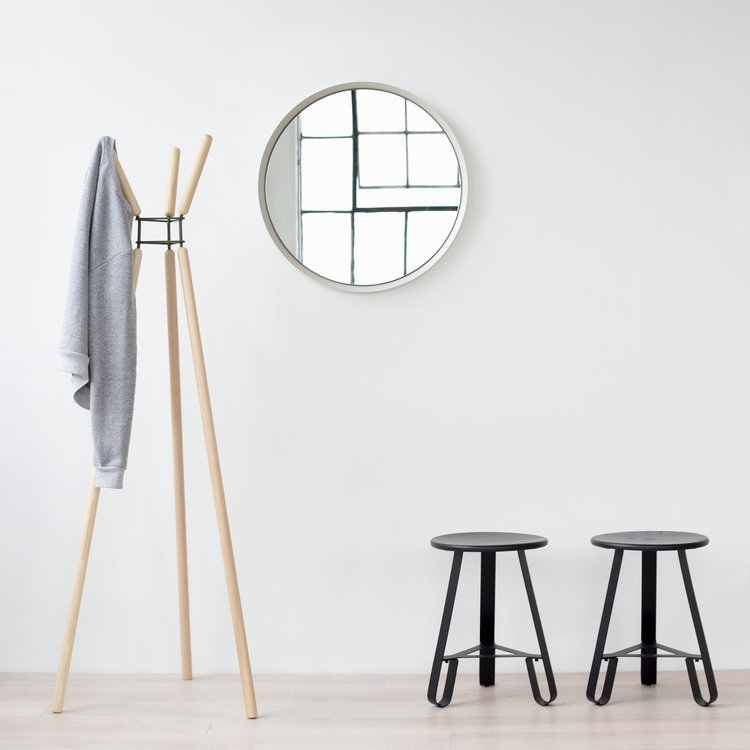 Misewell Wave Coat Rack Ash And Black Adorable Wave Coat Rack