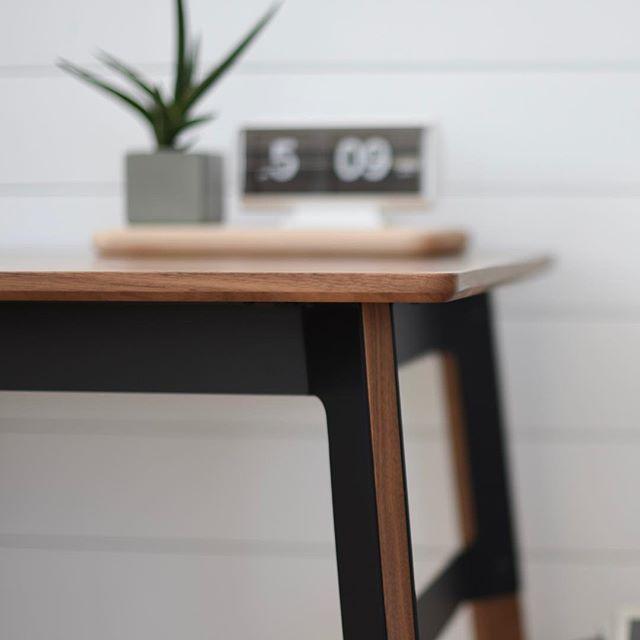 Grain desk.  As a designer, using solid walnut almost feels like cheating.