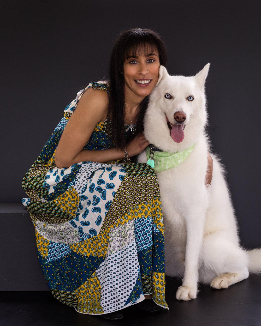 Studio family photo-dog photo-husky dog