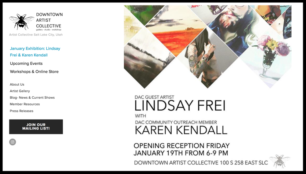 Wonderful exhibit - so honored to share the space with Lindsey!