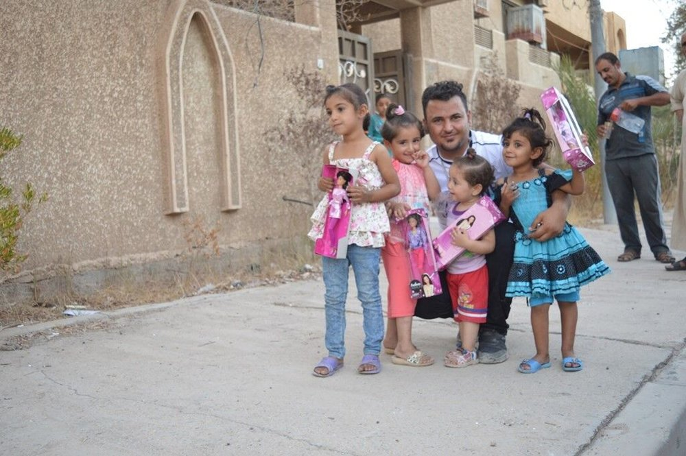 Fulla dolls bringing smiles to children in Fallujah.