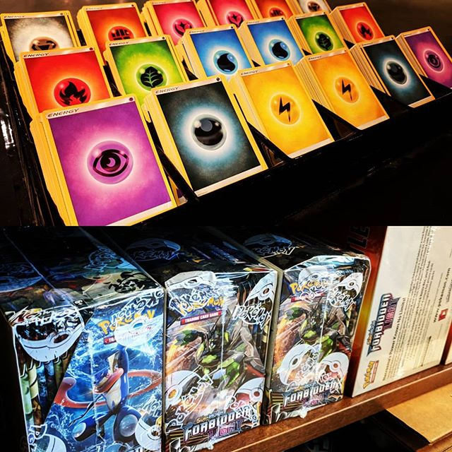 We're getting so excited for our first Pokemon TCG prerelease this weekend!!! There are only EIGHT SPOTS LEFT!!! #SFGameChest #pokemonprerelease . . #forbiddenlight #pokemontcg #DTSiouxFalls #gameshop #FLGS