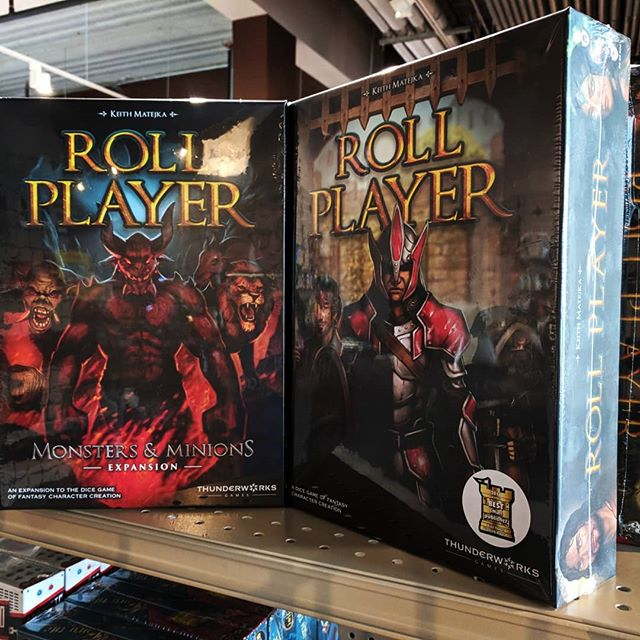 New inventory from this week! The best dice game ever (totally unbiased opinion) Roll Player is back on our shelves along with the BRAND NEW EXPANSION for it!