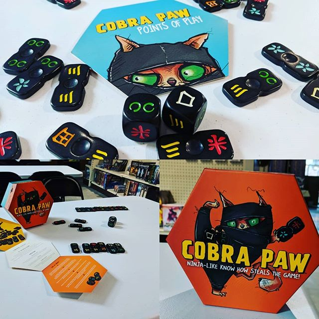 Played this game to round out the day... What an insanely fun game of ninja reflexes and cat puns! #SFGameChest #GameChestCommunity thanks Micah for playing with me! . . . #CobraPaw #boardgamegeek #boardgames