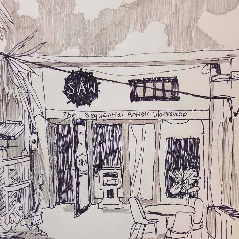 Drawing by  Chris Gooch , a 2016 Visiting Artist