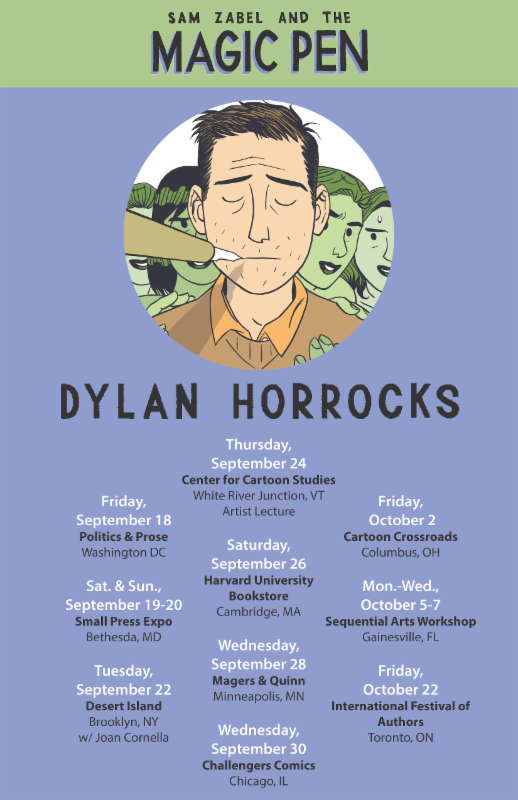 Dylan Horrocks at SAW Oct 6