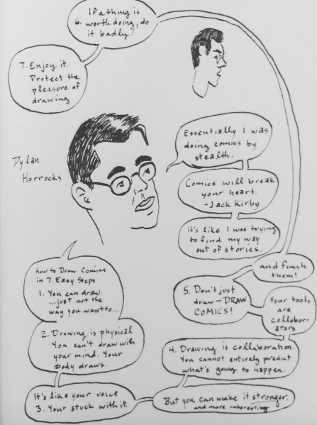 Notes from Dylan Horrocks's lecture.