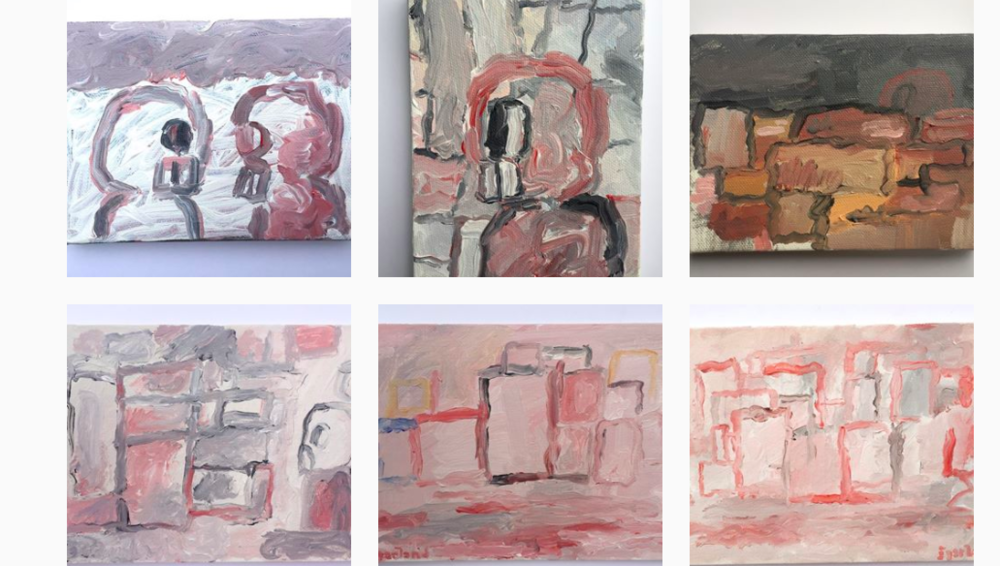Thanks Joseph! Check out his  instagram , where he is cranking out cool Guston-inspired (and do I detect a hint of Morandi? These are great influences!)