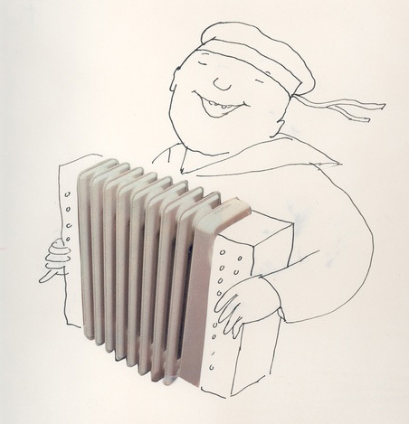 Radiator as accordion.