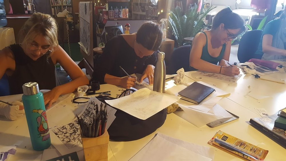 We Teach Comics! - The Sequential Artists Workshop is a grassroots, non-profit comics school and creative community. We teach people how to tell stories and make comics in Gainesville, Florida, USA… and around the world via our online courses and resources.