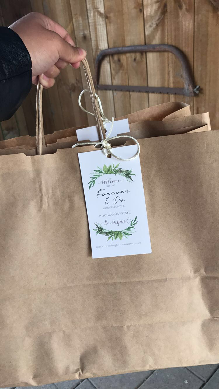 Our Goody Bags for the day which included food and vouchers to use at the event.