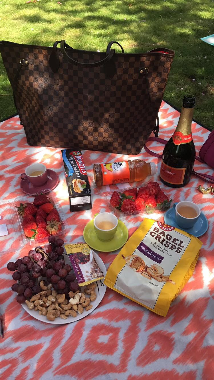 And we had a cute little picnic.