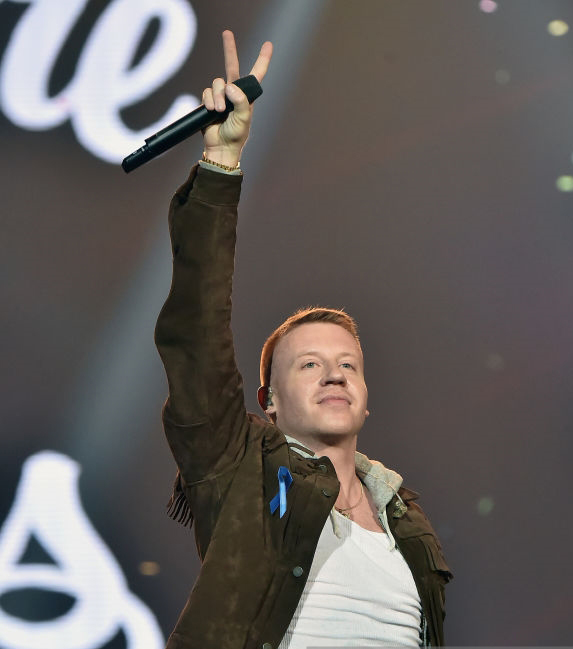 Macklemore performs onstage at WELCOME! - Fundraising Concert Benefiting The ACLU presented by Zedd at Staples Center on April 3, 2017 in Los Angeles, California.