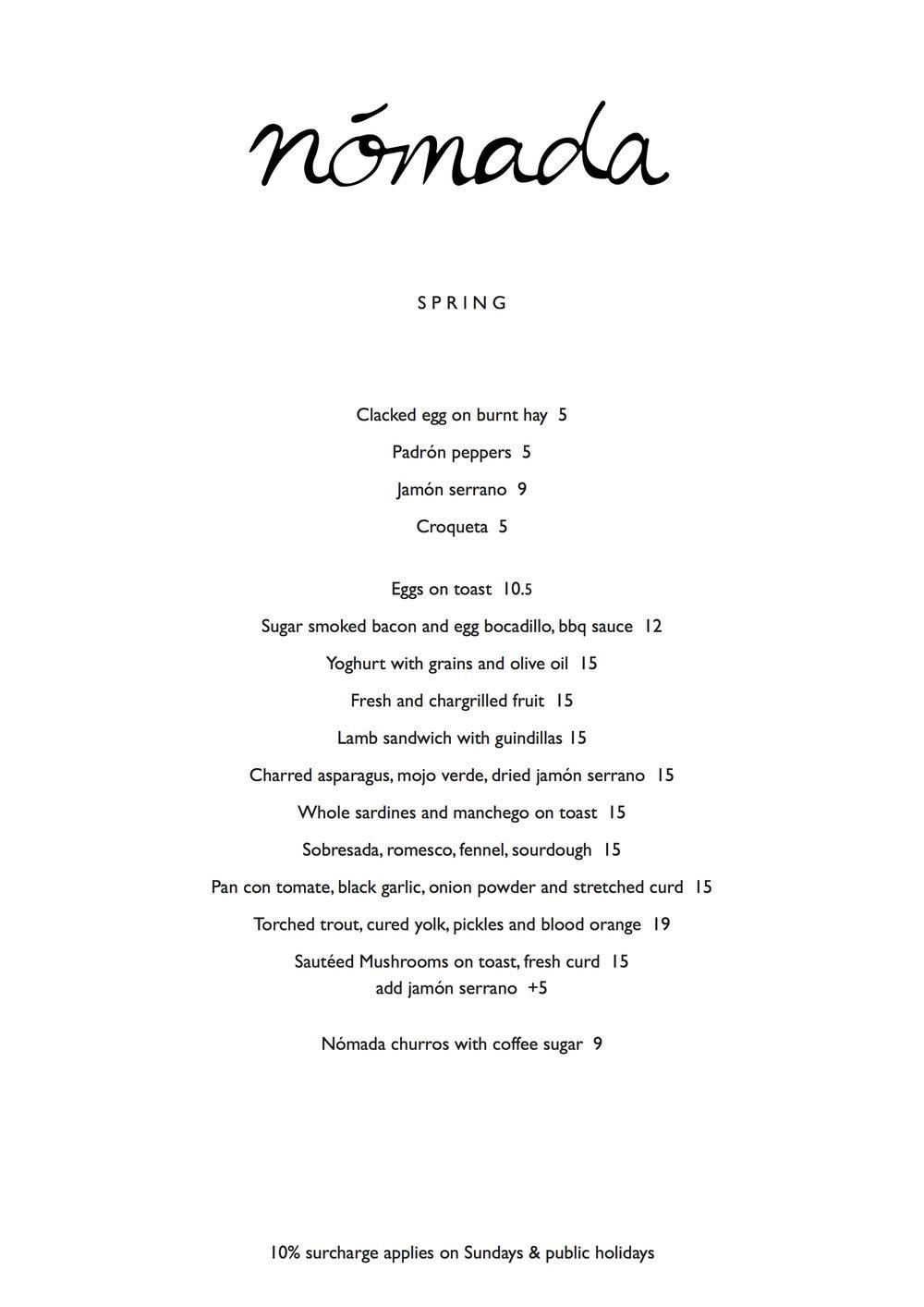 Nomada-Day-Menu-Fitzroy-Tapas-Cafe