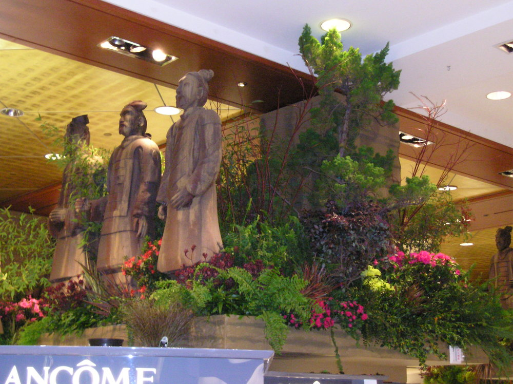 Partnered with FIDM to transform Macy's San Francisco make-up and jewelry departments for the annual flower show.