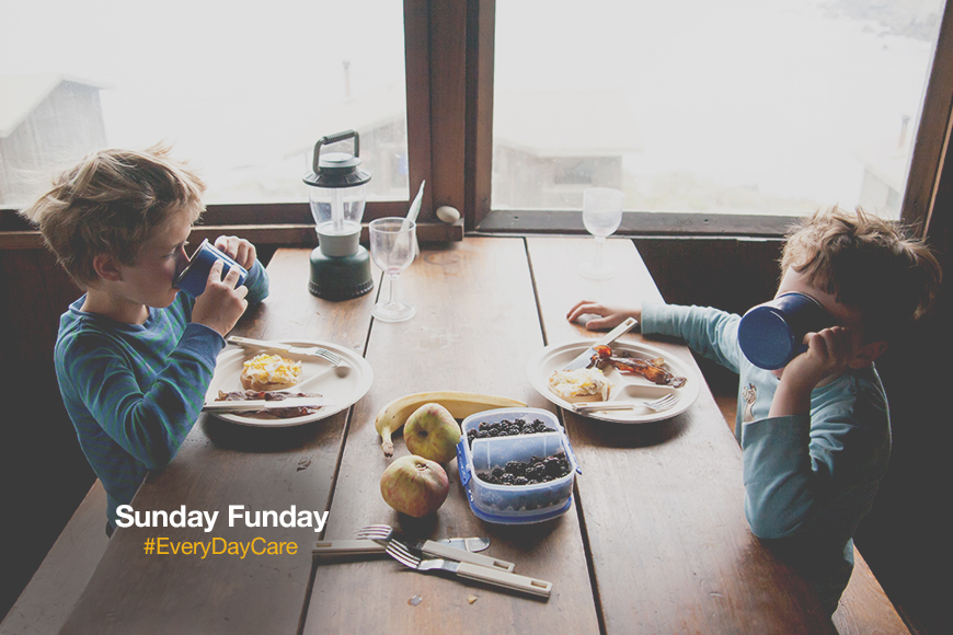 The hottest brunch spot in town? Your kitchen table. #SundayFunday #EveryDayCare