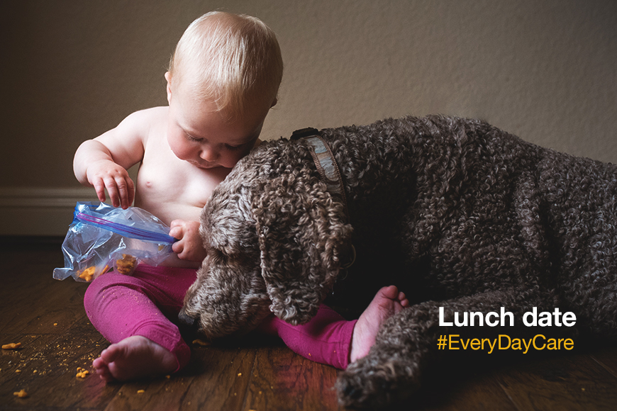 """""""One for me, two for the floor."""" #LunchDate #EveryDayCare"""