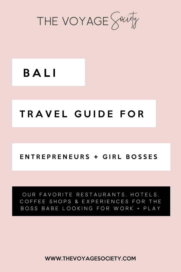 Bali Travel Guide for Boss Babes