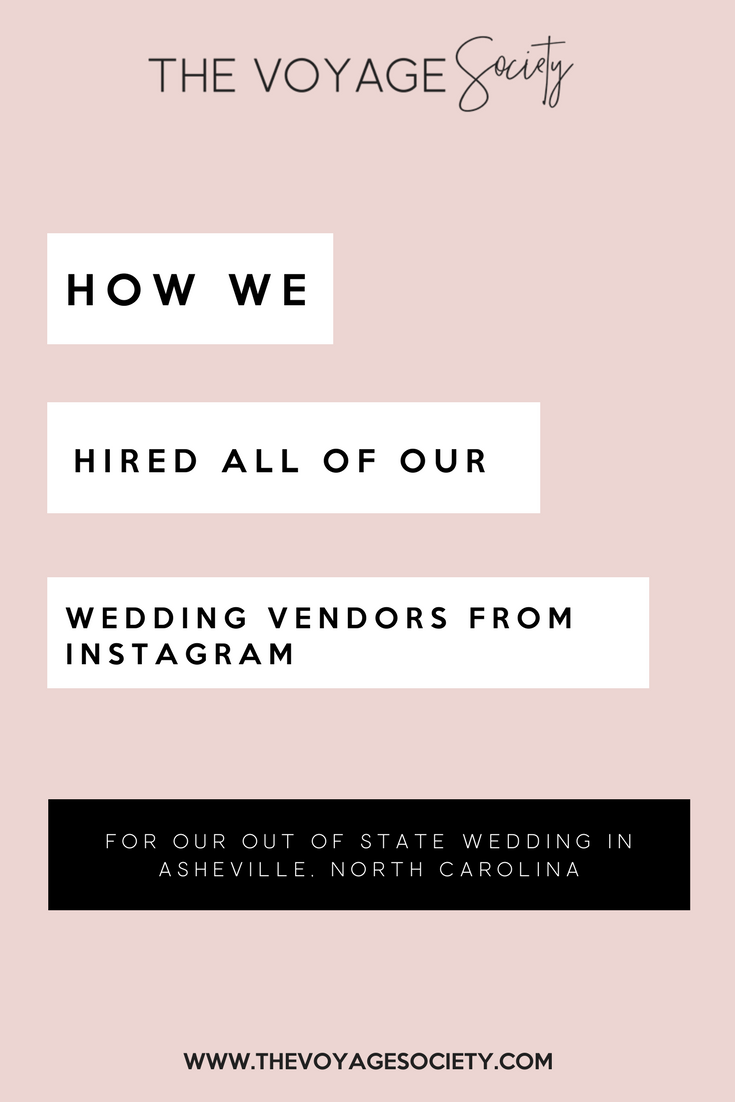 HOW WE HIRED ALL OF OUR WEDDING VENDORS FROM INSTAGRAM
