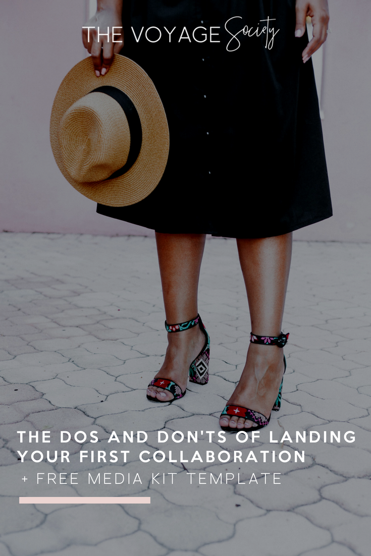 The Do's & Don'ts of landing your first colloboration + FREE media kit template!