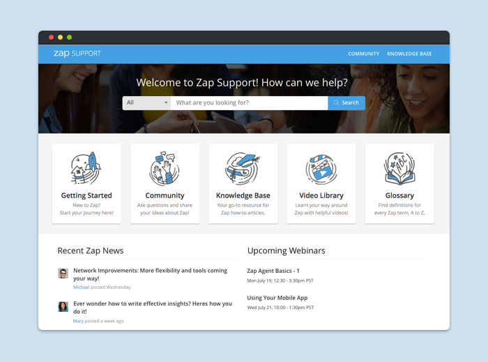 Zap support website - Led the UX/UI redesign of Zap's support website. Zap is a CRM for real estate agents.My role: UX Design, UI Design, ResearchCase study coming soon!