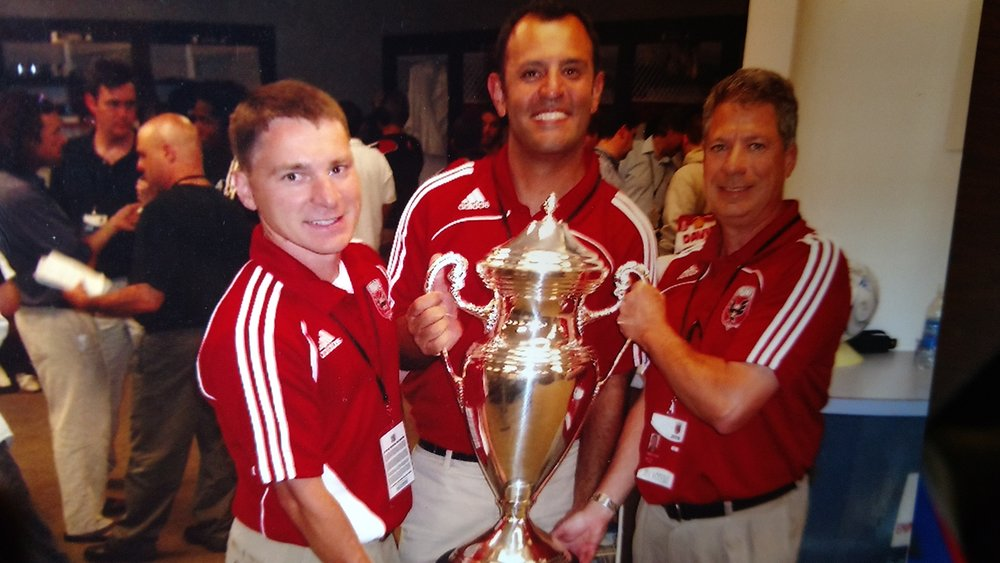 2008 US Open Cup with Dr. Keith Smithson, Team Optometrist, Dr.Hirad Bagy, Team Chiropractor,and Dr. Emilio Canal, Team Dentist