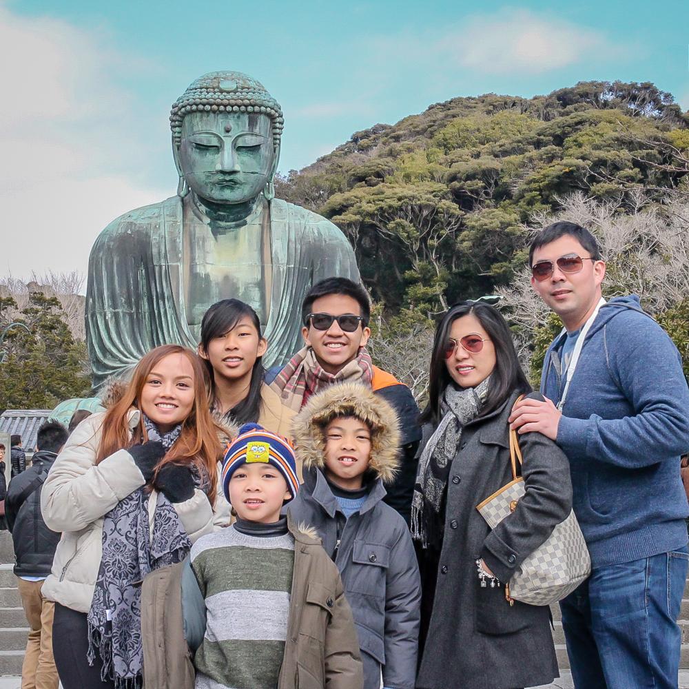 Kamakura daibatsu with Repizo Family